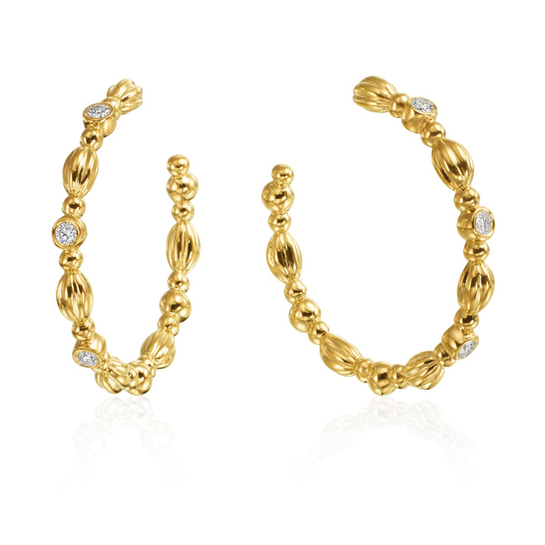 Gumuchian Nutmeg Diamond Hoop Earrings