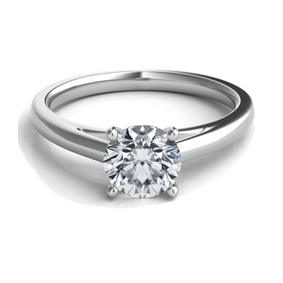 Sasha Primak Platinum Cathedral Solitaire Engagement Ring