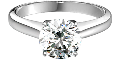 Sasha Primak Platinum Solitaire Engagement Ring