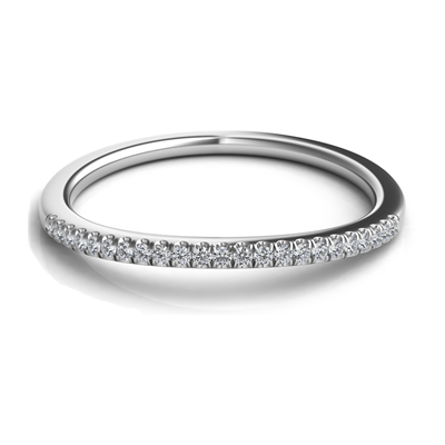 Sasha Primak Platinum Single Row Pave Diamond Wedding Band