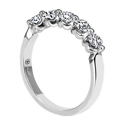 Sasha Primak Platinum Five Diamond Royal Prong Wedding band