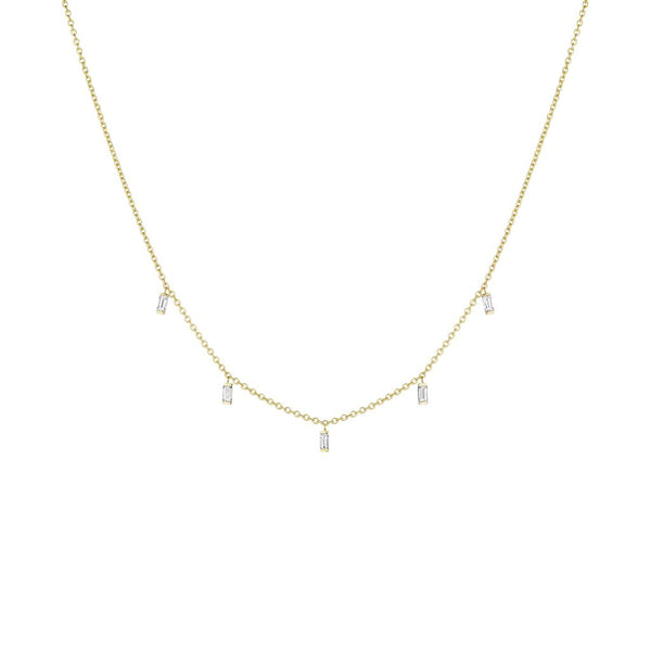 Penny Preville Baguette Diamond Moderne Layering Necklace