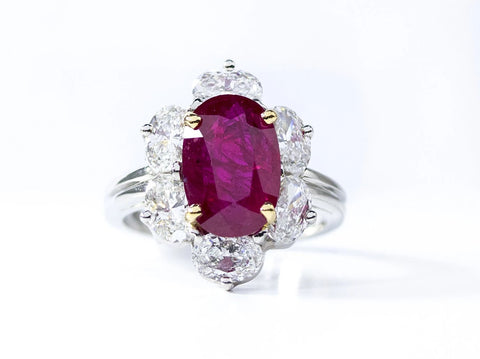 Oscar Heyman Platinum Ruby and Diamond Ring