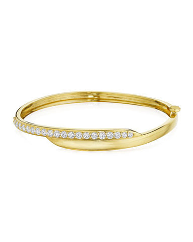 Penny Preville Gold Diamond Crescent Bangle Bracelet