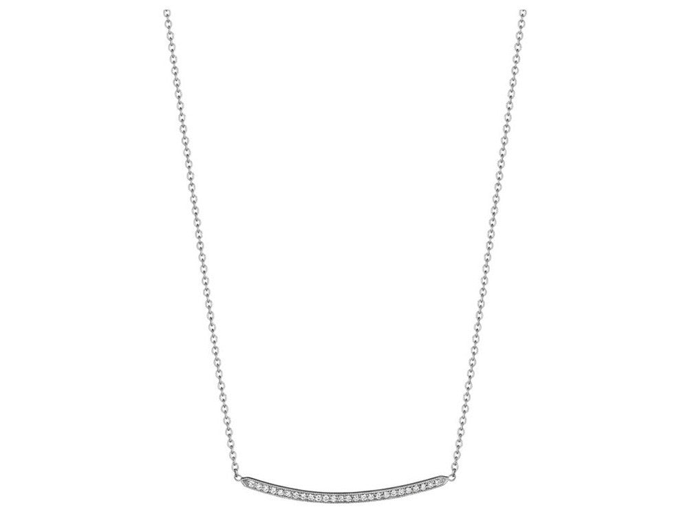 Penny Preville Thin Diamond Bar Necklace