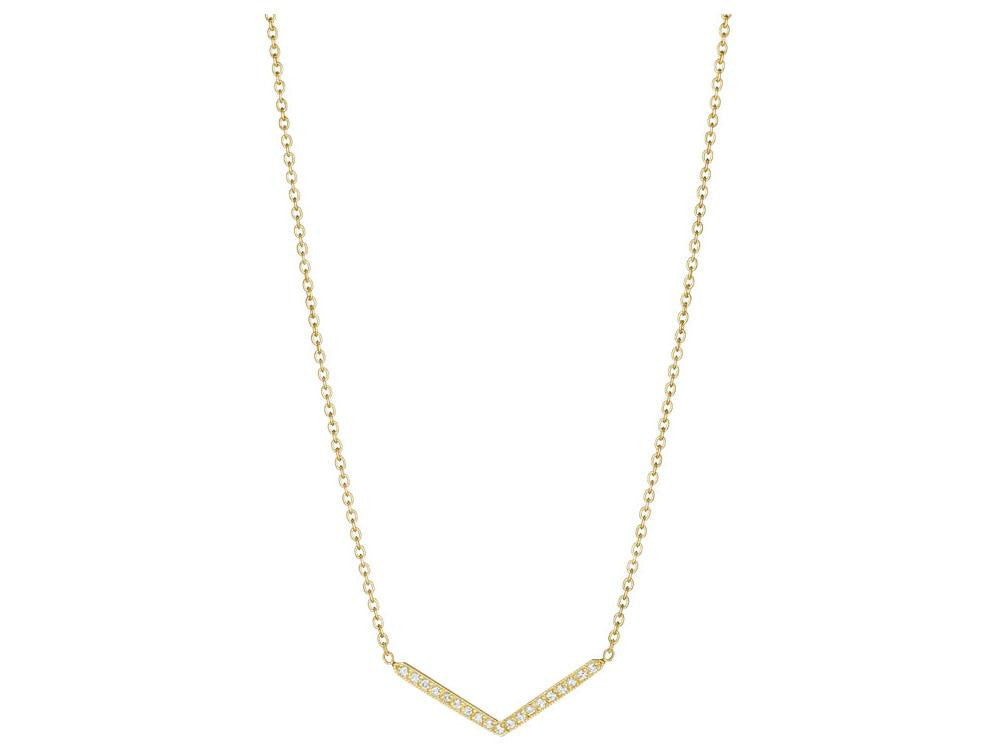 "Penny Preville 18k Yellow Gold Diamond ""V"" Necklace"