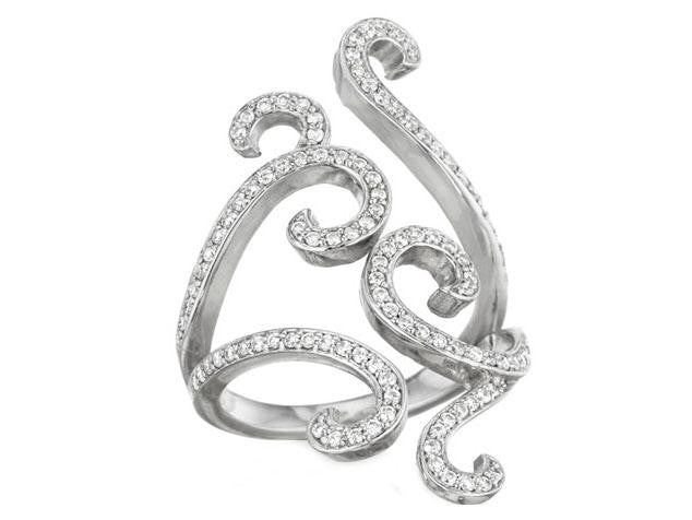 Penny Preville Diamond Swirl Wrap Ring