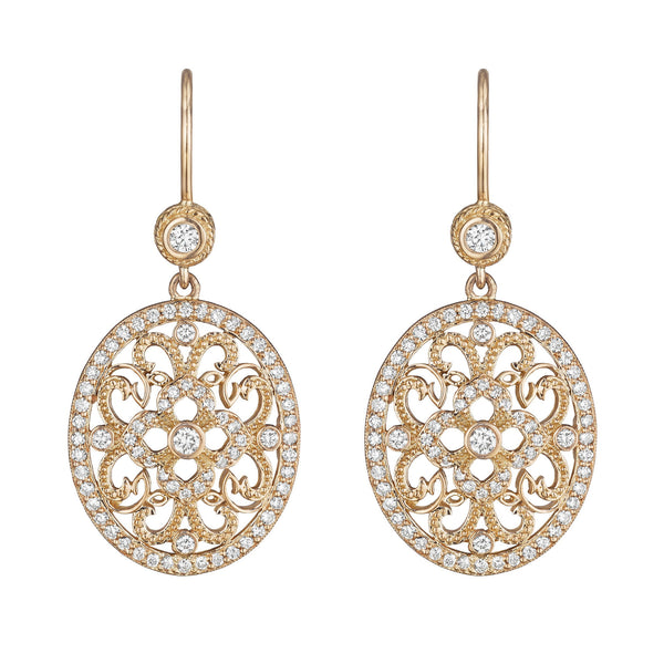 Penny Preville Diamond Lace Drop Earrings