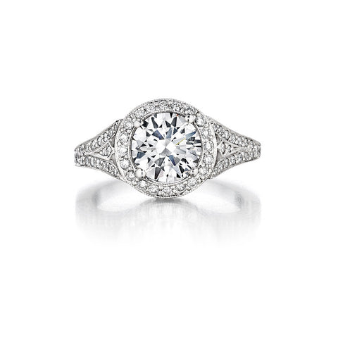 Penny Preville Grace Halo Diamond Engagement Ring
