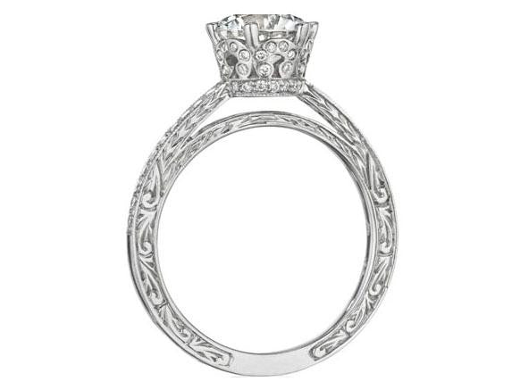 Penny Preville Liat Diamond Semi-Mount Engagement Ring