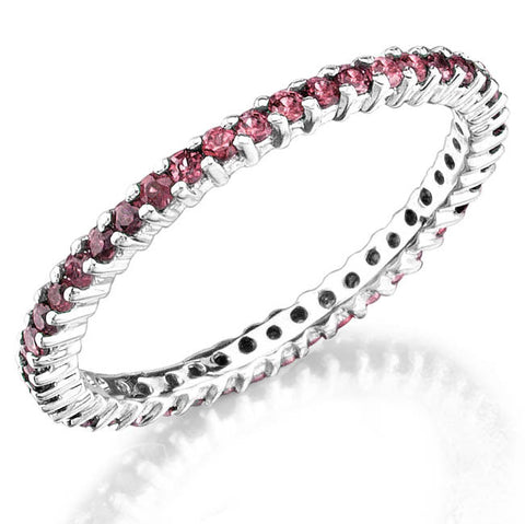 Jolie Designs Stackable Pink Sapphire Eternity Ring