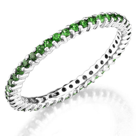 Jolie Designs Stackable Tsavorite Eternity Ring