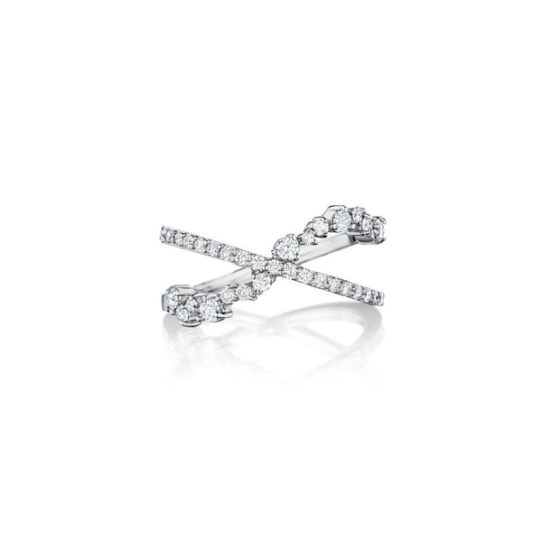 Penny Preville Stardust Diamond Criss Cross Ring
