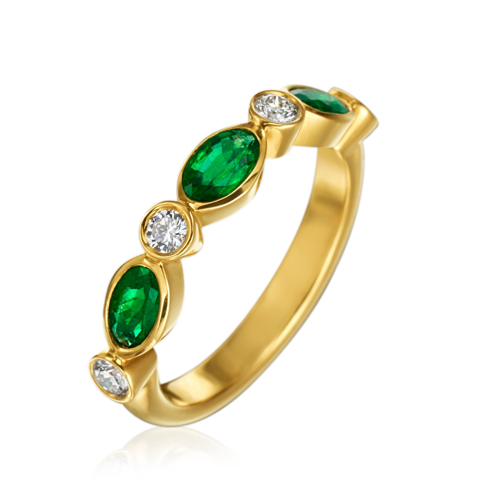 Gumuchian Marbella Emerald and Diamond Ring