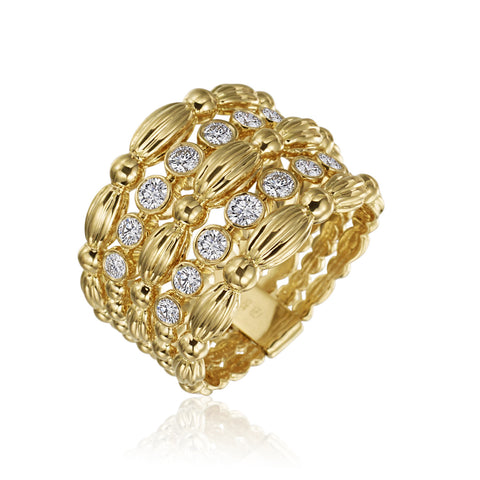 Gumuchian Nutmeg Collection 5 Row Diamond Ring