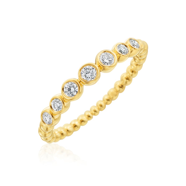 Gumuchian Nutmeg Stackable Diamond Ring