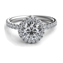 Sasha Primak Round Halo Diamond Engagement Ring