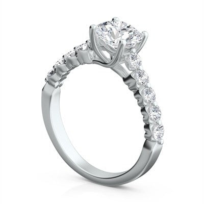 "Sasha Primak Eleven Stone ""Royal Prong"" Platinum Diamond Engagement Ring"