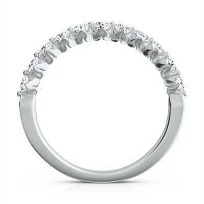 "Sasha Primak Round Diamond ""Royal Prong"" Platinum Wedding Band"