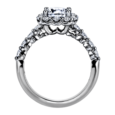 "Sasha Primak Nine Stone ""Royal Prong"" Platinum Diamond Engagement Ring"