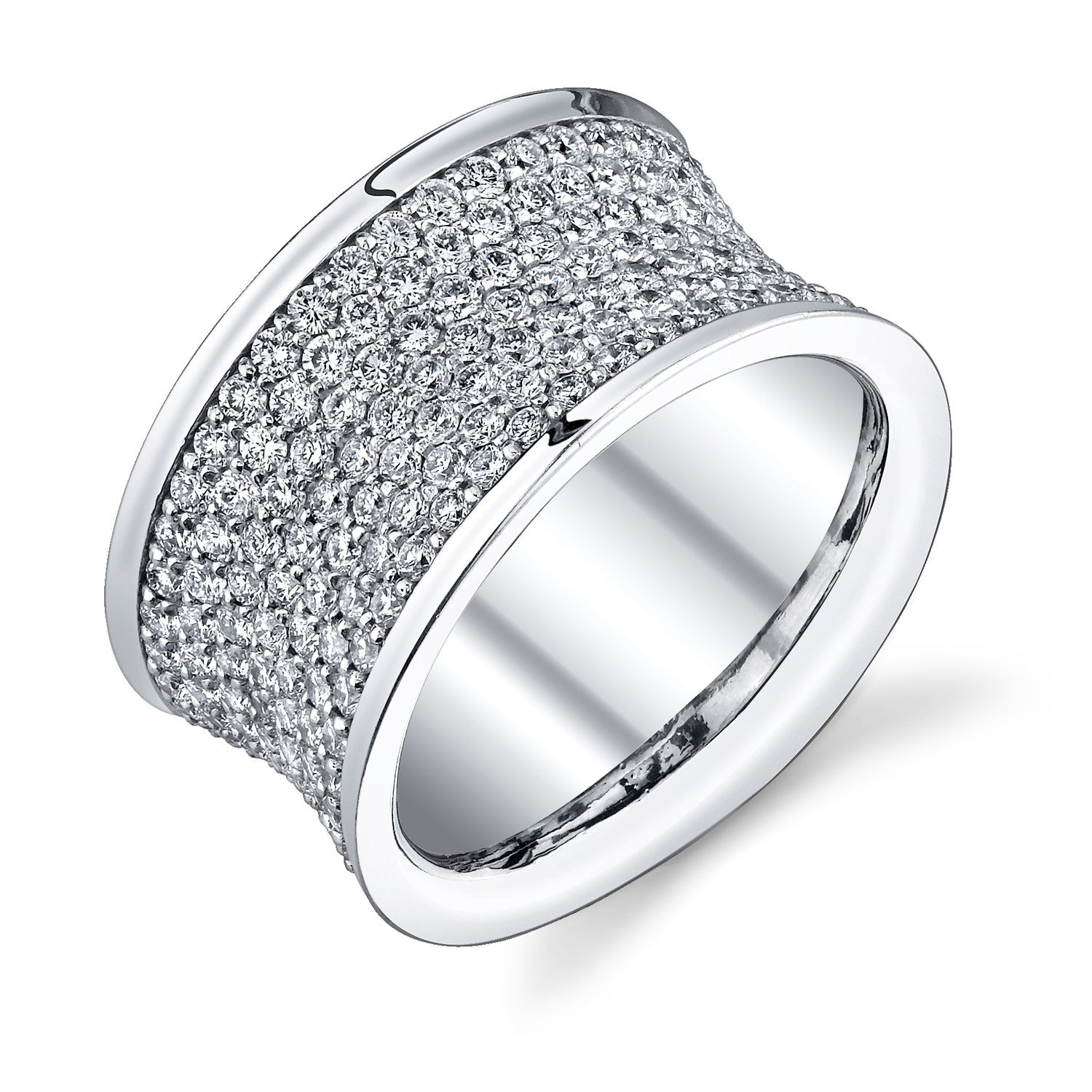 Michael Barin French Cut Micro Pave Diamond Eternity Band
