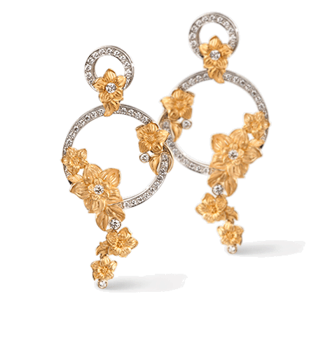 "Carrera y Carrera Diamond ""Emperatriz Bouquet"" Earrings"