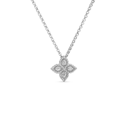 Roberto Coin Princess Flower Diamond Pendant