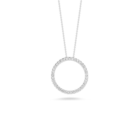 Roberto Coin Tiny Treasures Diamond Circle Pendant