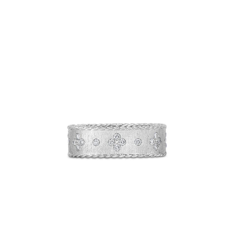 Roberto Coin Satin Princess White Gold Diamond Ring