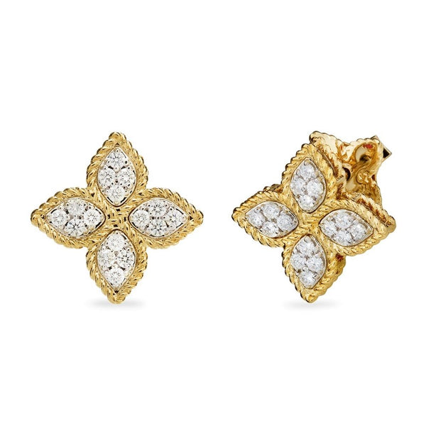 Roberto Coin Princess Flower Diamond Earrings