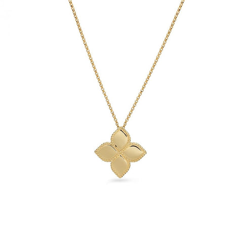 Roberto Coin Princess Flower Gold Pendant