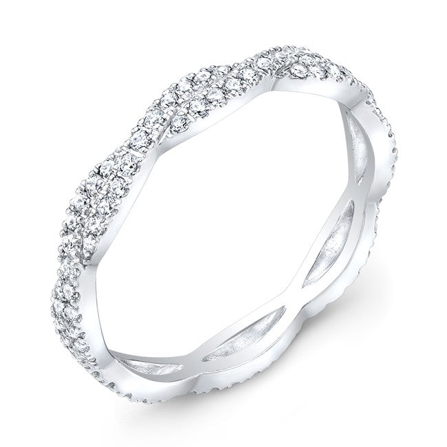 Jolie Designs Stackable Diamond Twist Eternity Ring