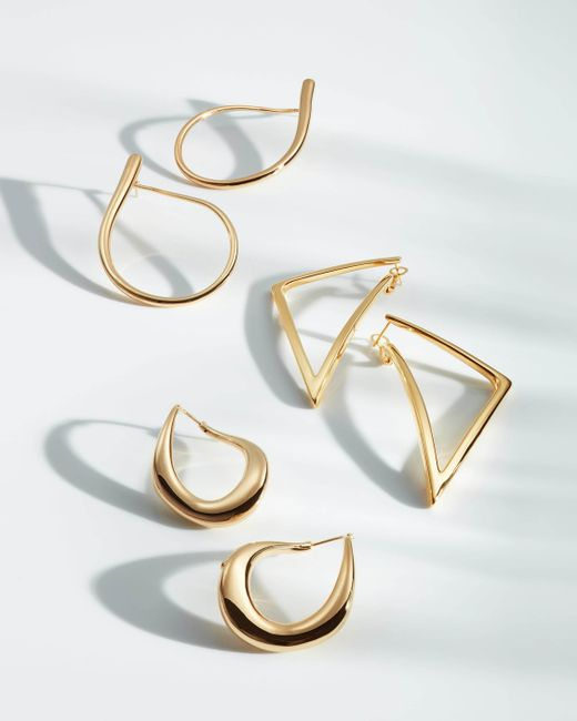 Roberto Coin Bold Gold Triangle Earrings