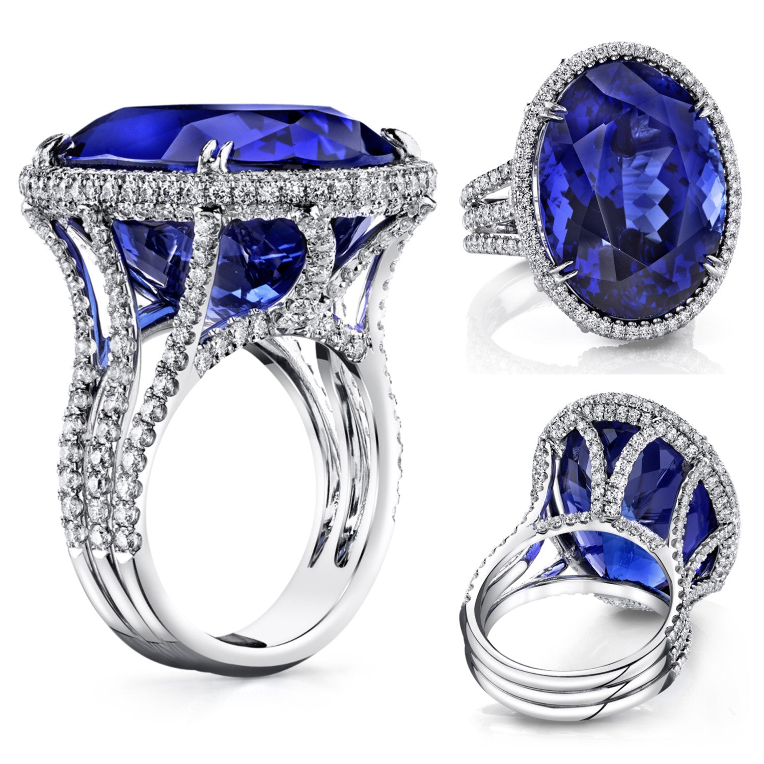 Michael Barin Tanzanite and Diamond Ring