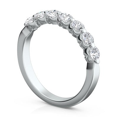 Sasha Primak Platinum Royal Prong Diamond Wedding Ring