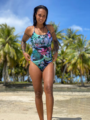 "Maillot 1 pièce femme ""Tropical vibes"""
