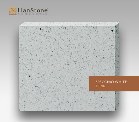 Hanstone quartz real rock company for Specchio white hanstone