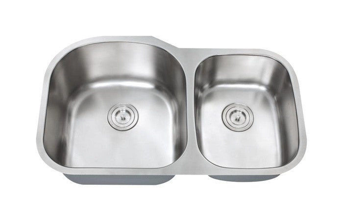 Big 1-3/4 double bowl kitchen sink 16 gauge COMBO - Chef Series