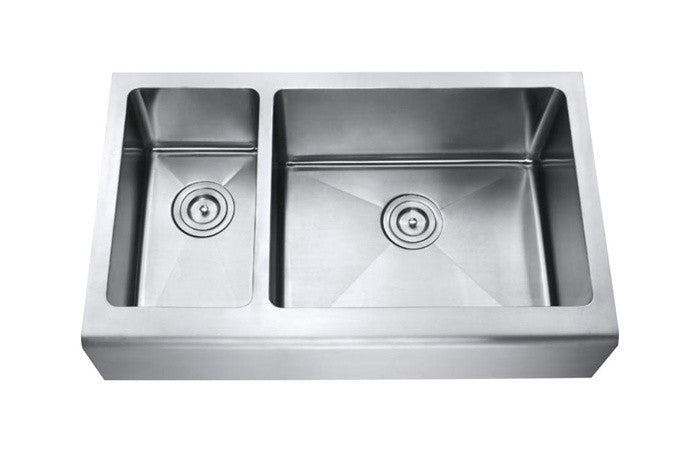 APRON - 1-1/2 Double bowl kitchen sink 16 Gauge reverse COMBO - Chef Series