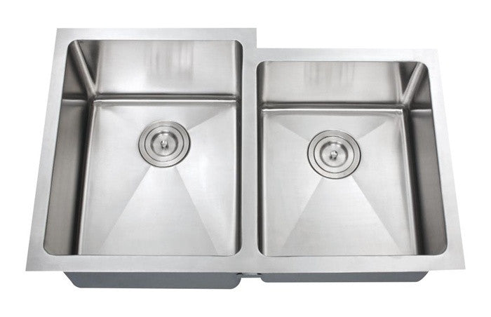 1-3/4 Double bowl kitchen sink 16 gauge COMBO - Chef Series