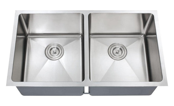 Double equal bowl kitchen sink 16 gauge COMBO - Che Series