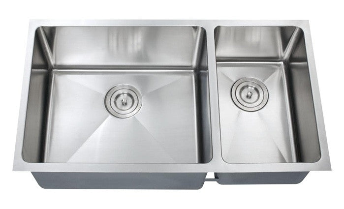 1-1/2 Double bowl kitchen sink 16 gauge COMBO - Chef Series