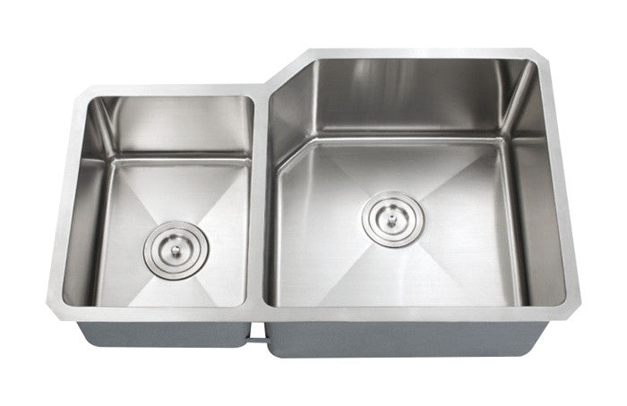 Big 1-3/4 Double bowl kitchen sink 16 gauge reverse COMBO - Chef Series
