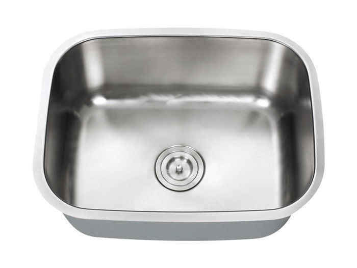 INDUS - Small single bowl kitchen sink - Universe Series 18 Gauge