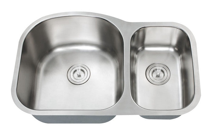 HERCULES - 1-1/2 Double bowl kitchen sink - Universe Series 16 Gauge
