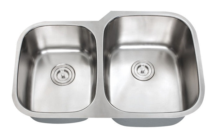 1-3/4 Double bowl kitchen sink 16 gauge reverse COMBO - Chef Series