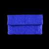 Quilted royal blue clutch
