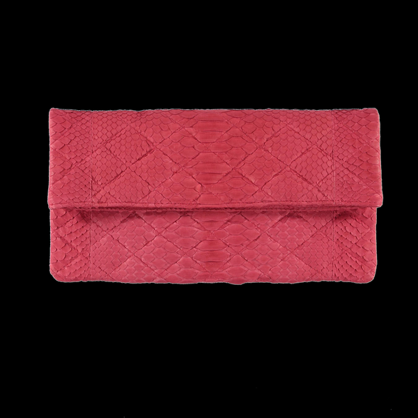Quilted dark rose clutch