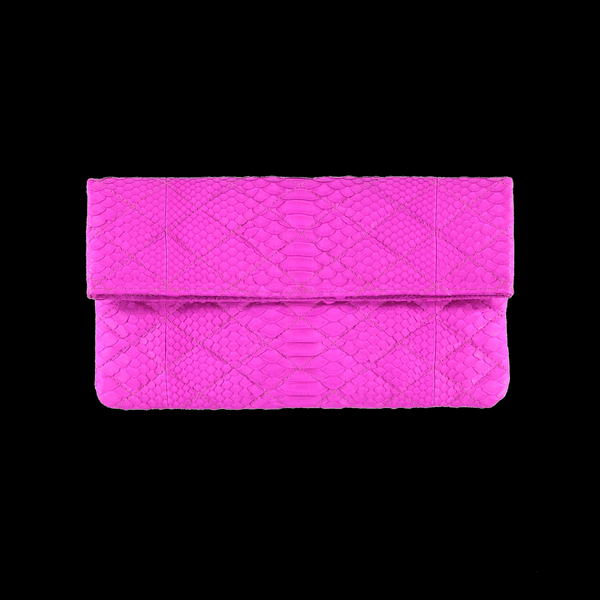 Quilted fuchsia clutch