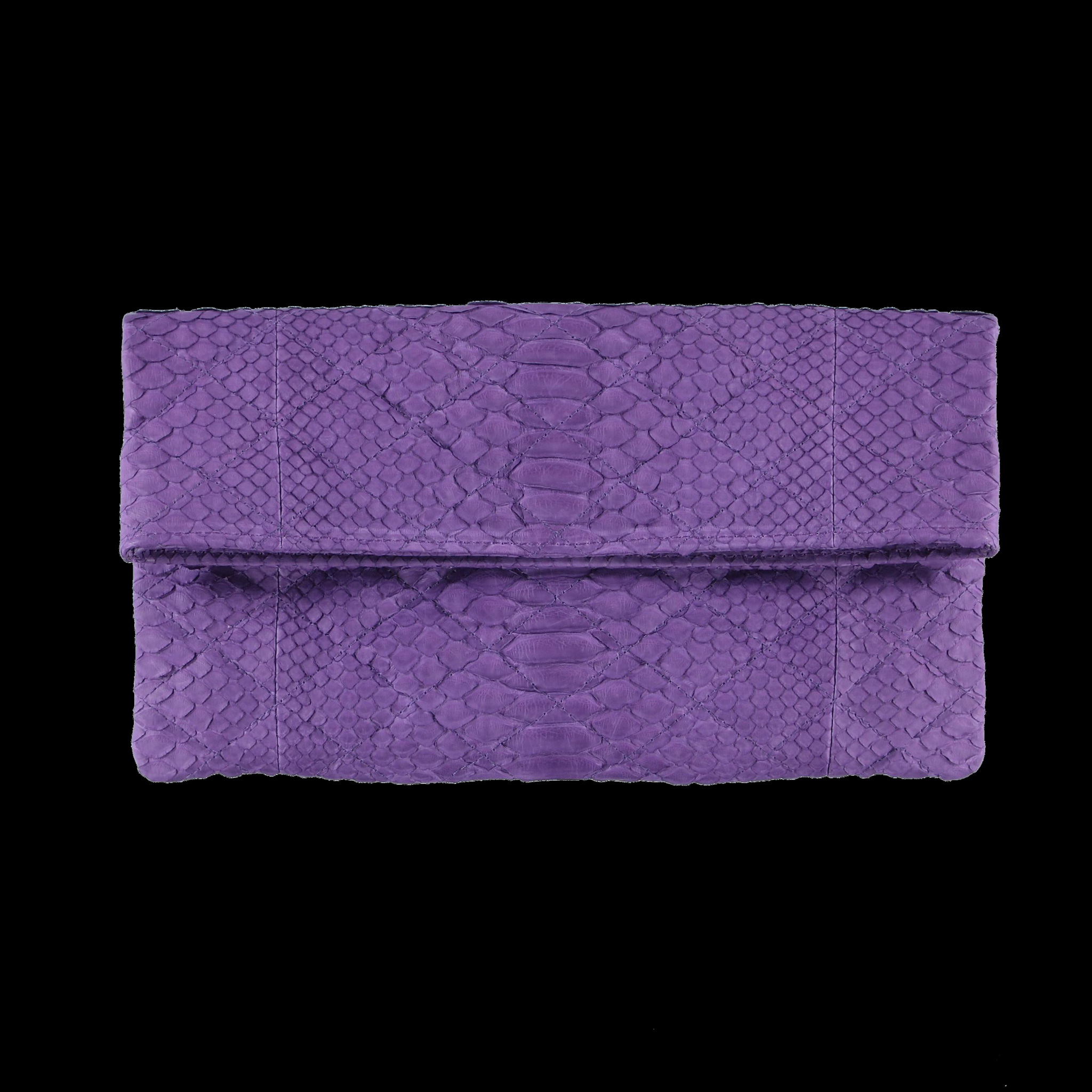 Quilted purple clutch